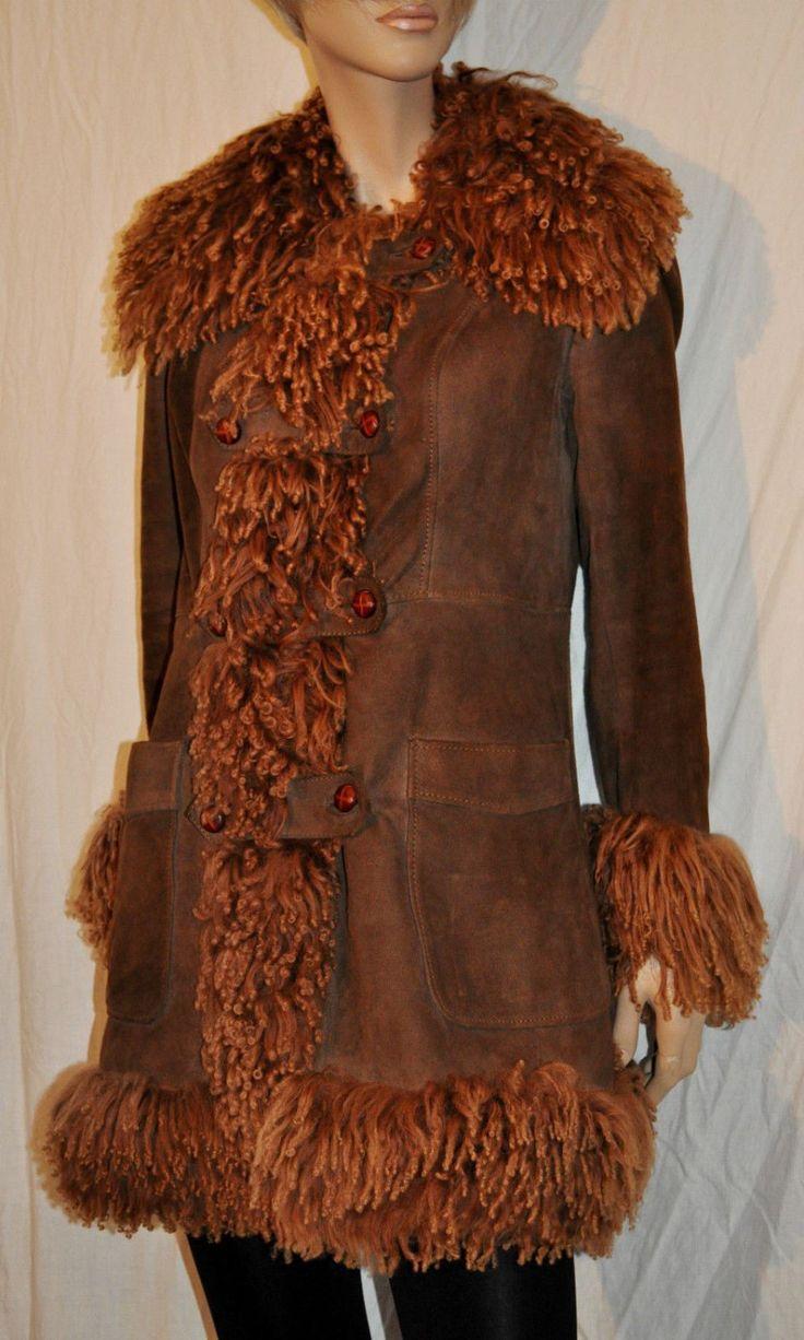 Astonishing  Leather Suede Woman Coat Parka Size S Giaccone Cappotto Donna in Pelle Marrone Scamosciata Vintage Originale Anni 70' Taglia S di BeHappieWorld su Etsy