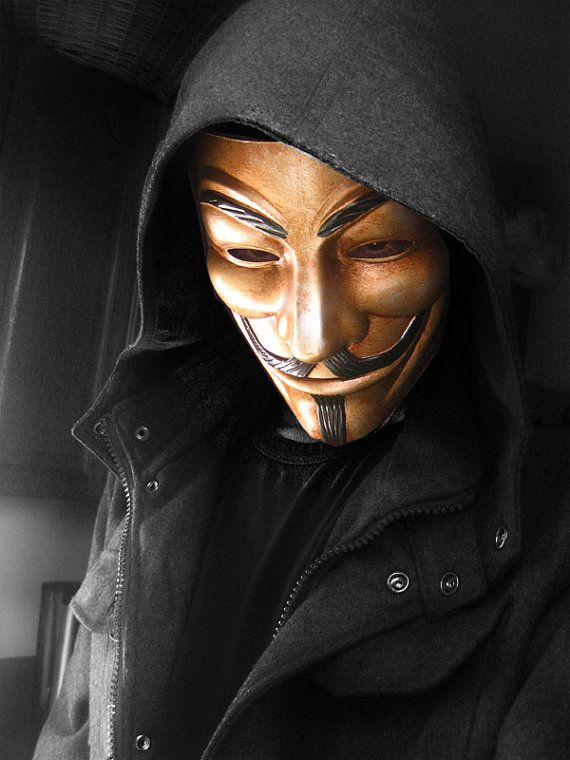 Guy Fawkes V for Vendetta Anonymous Custom hand by EGOLOGICS, $29.99