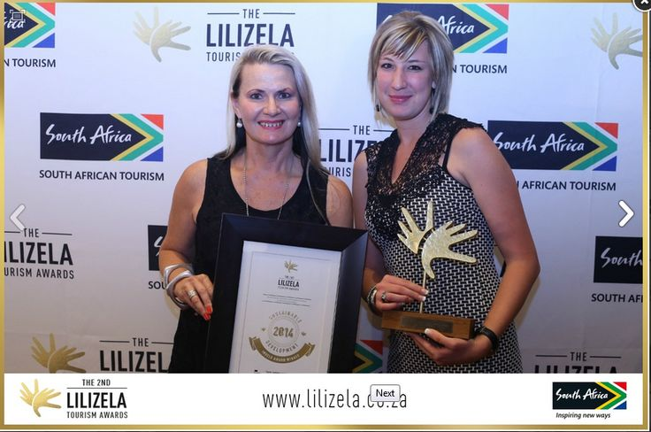 "Winners of the ""Most Sustainable Development Award"" - 2014 National Lilizela/Imvello Tourism Awards - 9th October at the Lyric Theater, Gold Reef City. www.thabatshwene.co.za"