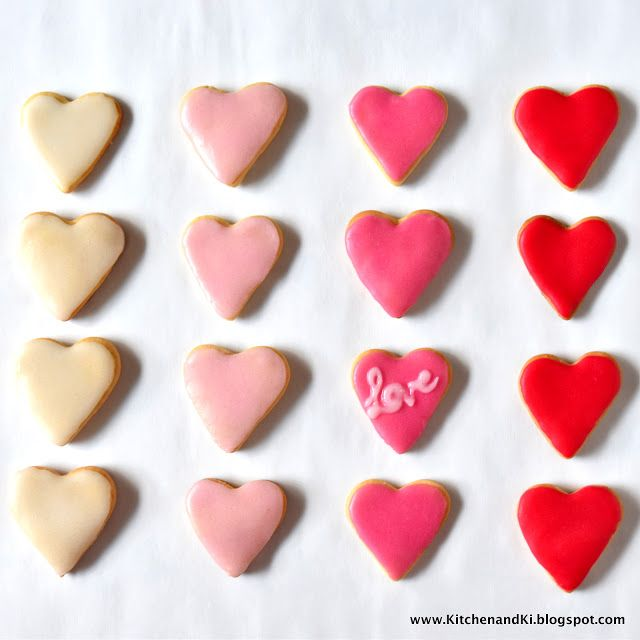 Ombre cookies are such a pretty sight to behold for Valentine's day