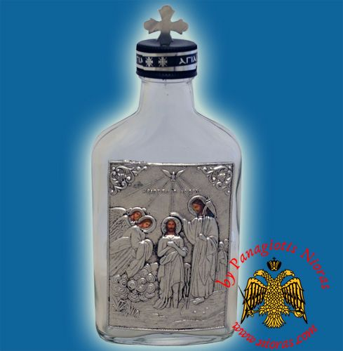 Holy Oil & Water Bottle Clear Glass Theofania