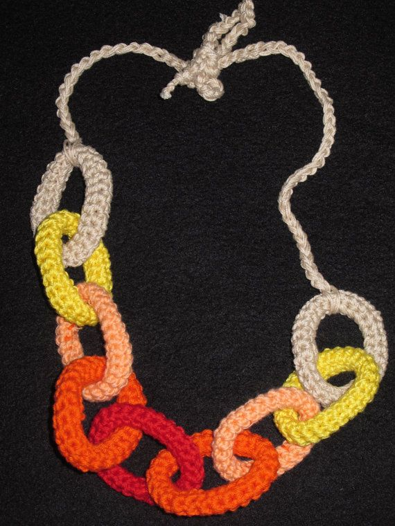 cotton circles necklace by giovannacargnelli on Etsy, €25.00