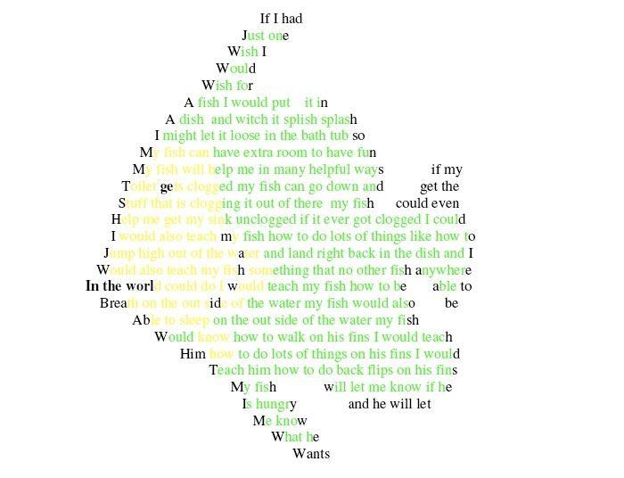 How to Write a Concrete Poem?