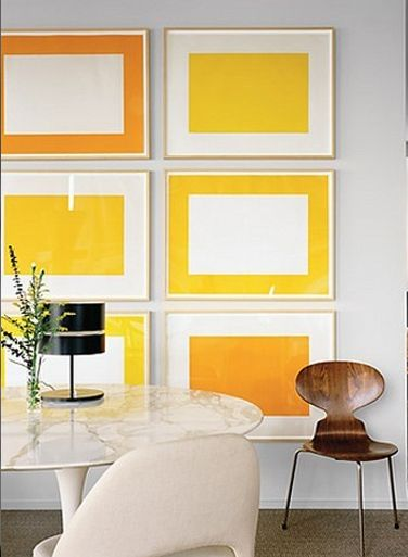 Easy DIY treatment to add massive color to any space   orange and yellow