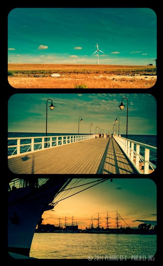 Sea landscape of Gdynia City / Poland