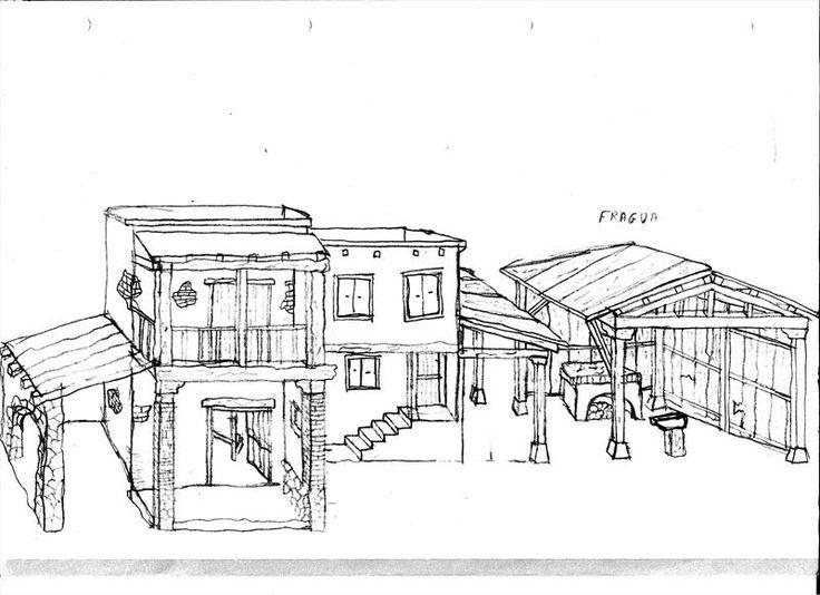 Foro de Belenismo - Planteamiento -> Boceto de plazas y casas