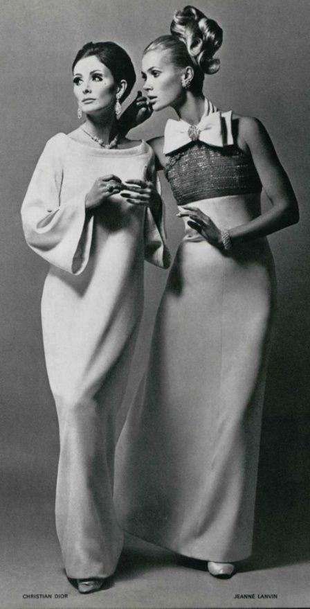 1966 Christian Dior & Lanvin - L'OFFICIEL DE LA MODE n°529-530 de 1966…