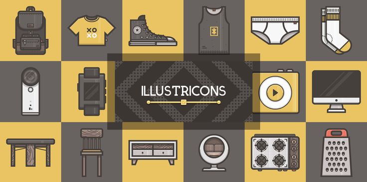 Illustricons is an icon pack like no other. It is a mix of free icons and illustrations that can be used for a variety of design applications and customized to meet your every need.