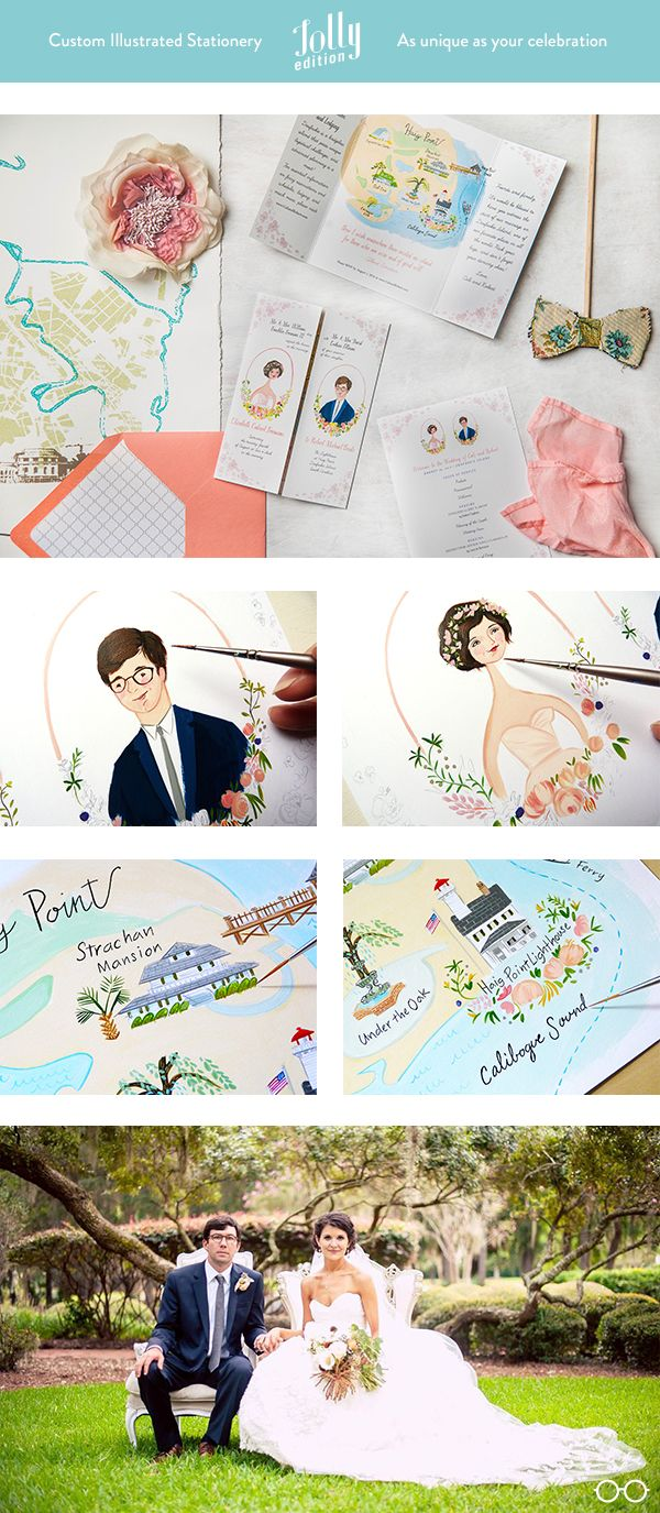 #custom #wedding #stationery by @Jolly Edition. Includes: #invitation…