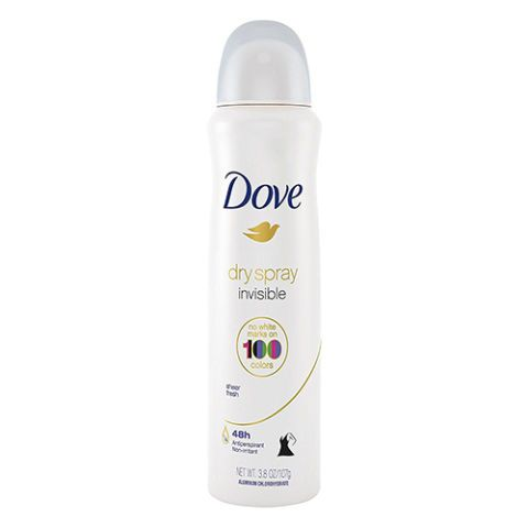 $7 BUY NOW  The functions of Dove's antiperspirant dry spray are twofold: to protect you from wetness and odor for up to 48 hours, and to soothe underarm skin. A new addition to the brand's spritzer line, this 100% alcohol-free mist applies sheer and won't show against a whopping100 colors — so feel free to spray and play!If razor burn is an issue for you, the formula is 25% moisturizertohelp ease the ouch.  More: Online Fitness Programs to Make You Sweat Anywhere With Wifi