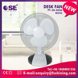 "electrical appliances 12"" PP/AS blade ultra quiet small desk fan"