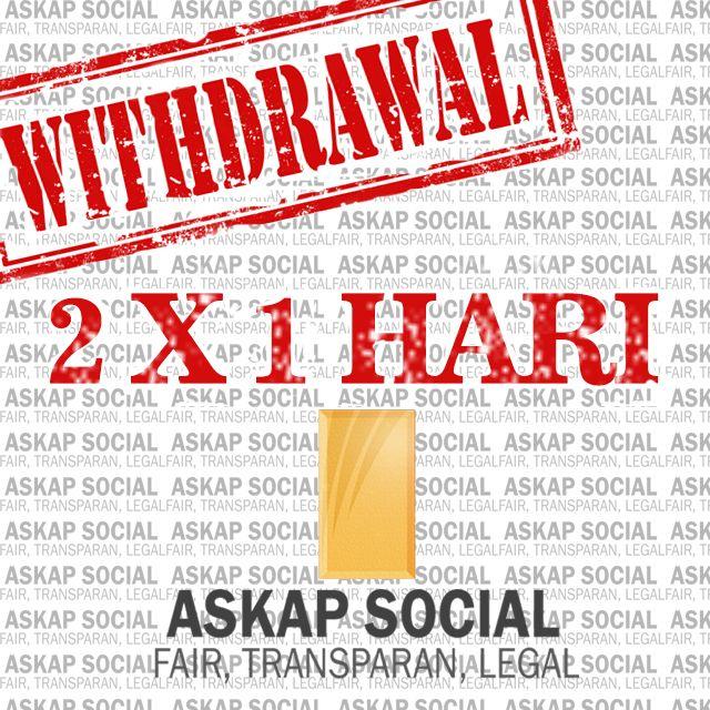http://goo.gl/jkGgjr - Salah satu keunggulan Askap social dibanding broker lainnya adalah 2x withdrawal dalam sehari. Ini juga bisa Anda dapatkan jika Anda bergabung bersama kami :)