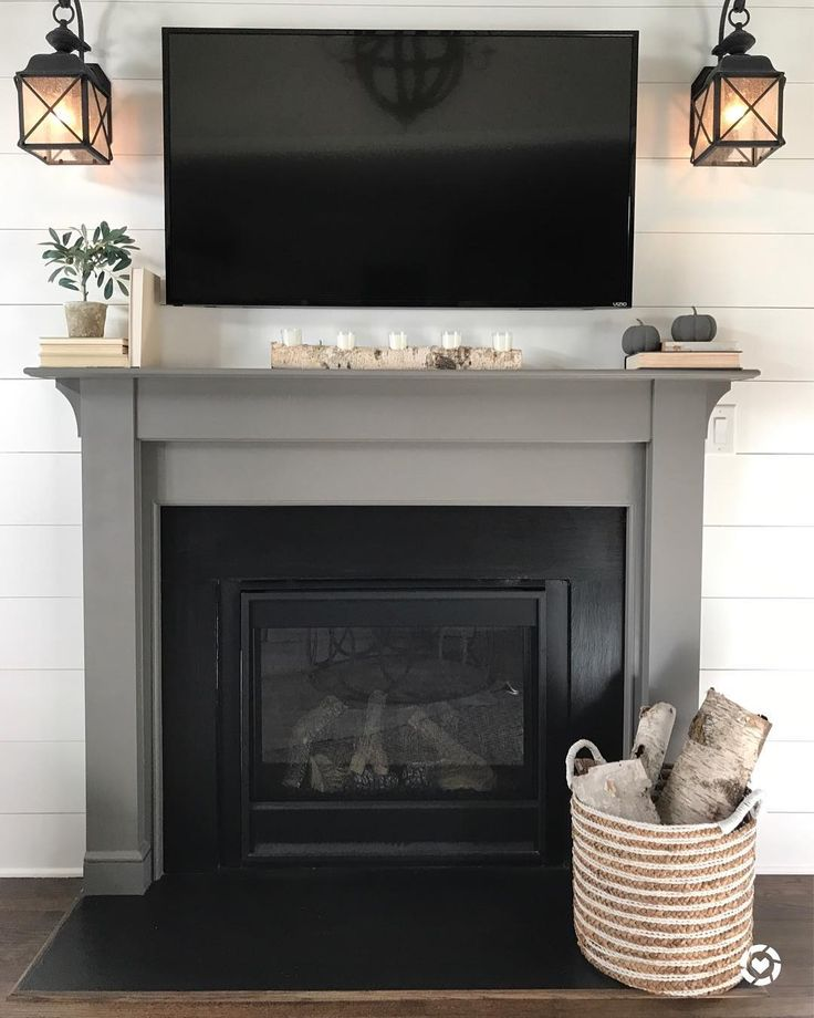Fireplace Is Sherwin Williams Gauntlet Gray