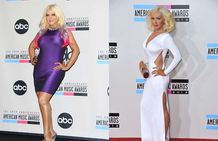Christina Aguilera is another young celeb used to dealing with the critical eye of the Hollywood pre... - Left: Joe Seer/Shutterstock.com;Right: Jaguar PS/Shutterstock.com