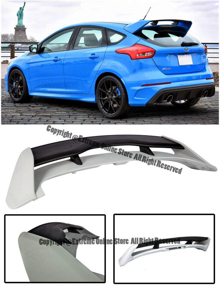 For 13 18 Ford Focus Hatchback Jdm Rs Style Primer Black Rear Roof Wing Spoiler Ebay Ford Focus Hatchback Ford Focus Expensive Car Brands