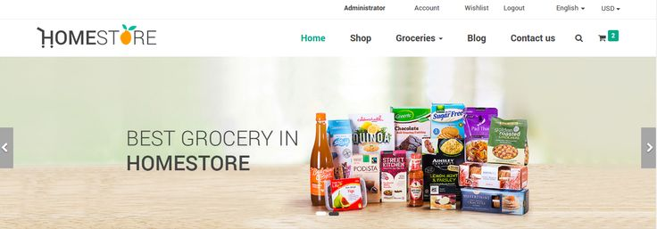 HomeStore is unique #Odoo #eCommerce #theme created for the purpose of selling grocery items.