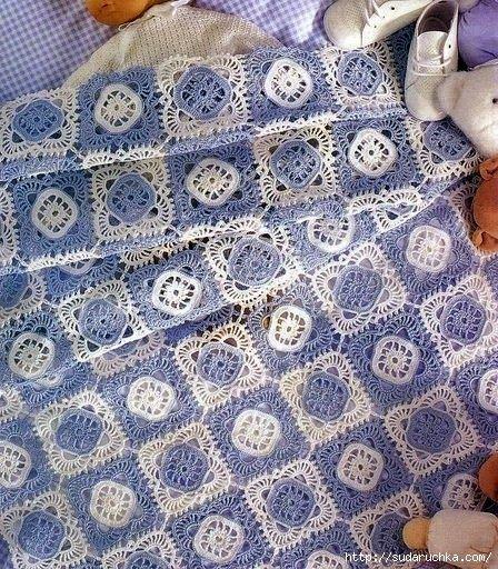 Hobby lavori femminili - ricamo - uncinetto - maglia: copertina neonato uncinetto