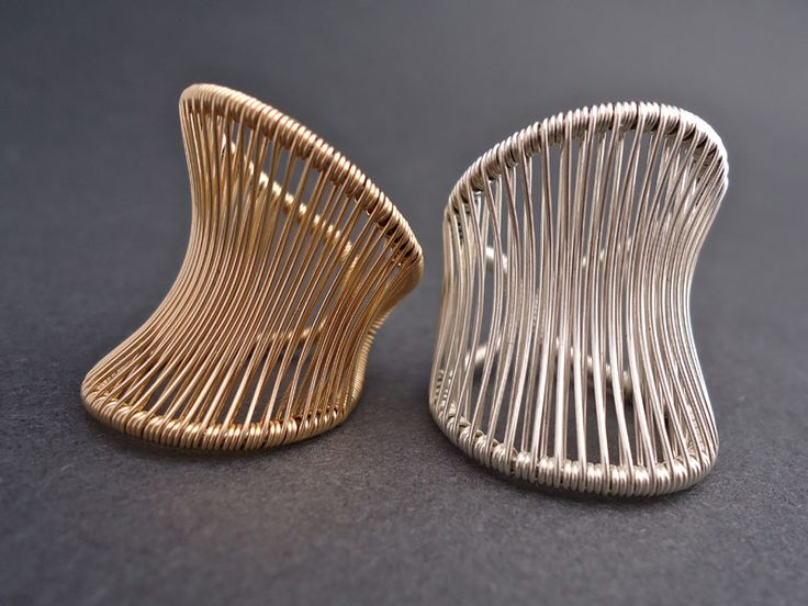 Tana Acton: Corset Rings in silver and goldfill
