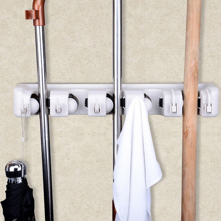 Features:  Materials: Heavy Duty Plastic.  1 Rack With 6 Hooks.