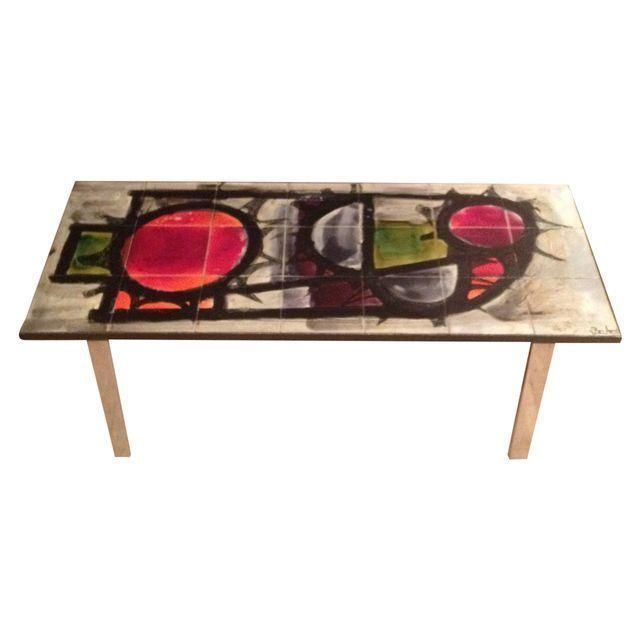 Stunning Teak And Chrome Contemporary Small Coffee Table: 1960's J Belarti Chrome Tiled Top Coffee Table On Chairish