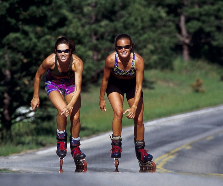 Rollerblading- it's STILL cool and straight people do it, too. :p