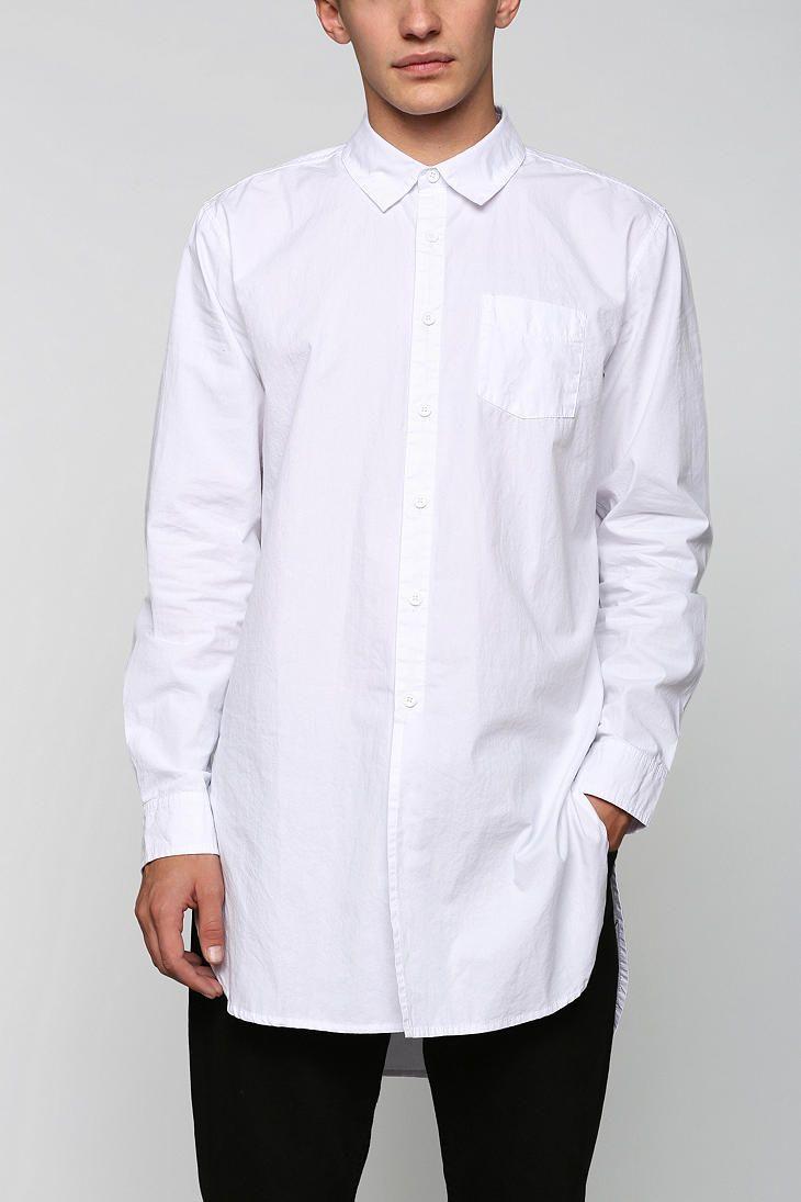 59df4f34715 KC By Kill City Long Button-Down Shirt