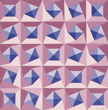 That is some CRAZY movement going on there. Amazing for a quilt. Luiz Sacilotto, C. 8723, 1987 ♥