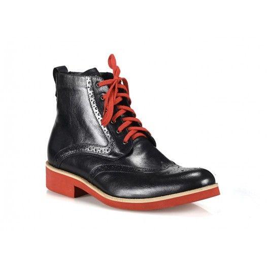 Pánske elegantné kožené topánky COMODO E SANO - fashionday.eu
