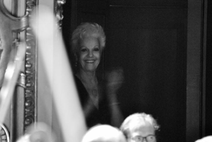 Raina Kabaivanska durante l'esibizione dei suoi allievi (foto Annalisa Andolina)