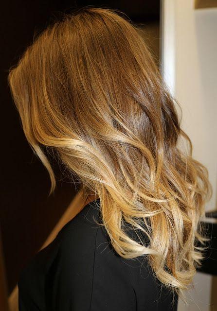 Golden blonde Brown hair