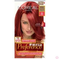 "Red hair dye.  Loreal | Feria Preference P76. Hmm...haven't seen this one in the stores and the link has an ""au"" for Australia.  It seems like USA should have it too. Pin now, fat check later..."