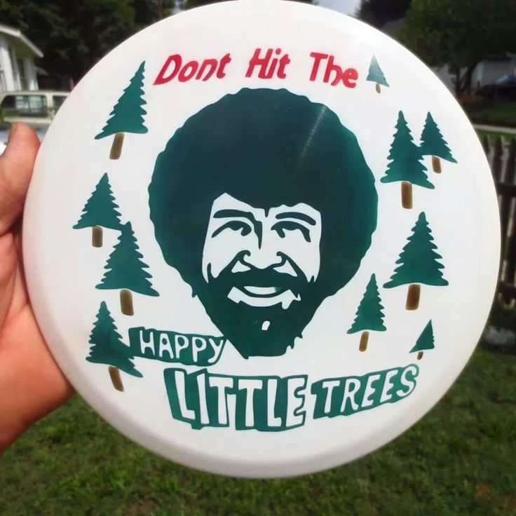Bob Ross disc golf