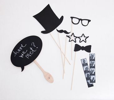 Black and white props-we can make these out of black card stock!