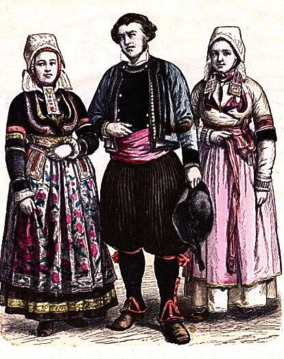 traditional Breton dress: Breton Vu, Breton Dresses, Ethnic Costumes, Folk Dresses, Traditional Costumes, Folklore Ii, European Folklore, Autres France, French Folk