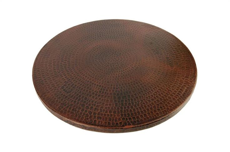 457mm Hand Hammered Copper Lazy Susan