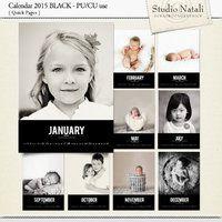 Calendar 2015 Black