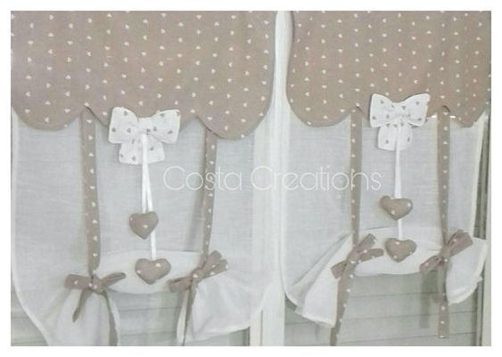 Glass curtains, shabby curtains, country tents, window curtains ...