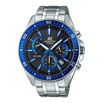 ของดี  Casio Edifice Chronograph นาฬิกาข้อมือผู้ชาย สีดำ สายสแตนเลส รุ่นEFR-552D-1A2  ราคาเพียง  2,890 บาท  เท่านั้น คุณสมบัติ มีดังนี้ กันน้ำลึก 100 เมตร นาฬิกาจับเวลา เข็มนาทีแบบเรโทรเกรดสำหรับตัวจับเวลา หน้าปัดขนาดใหญ่