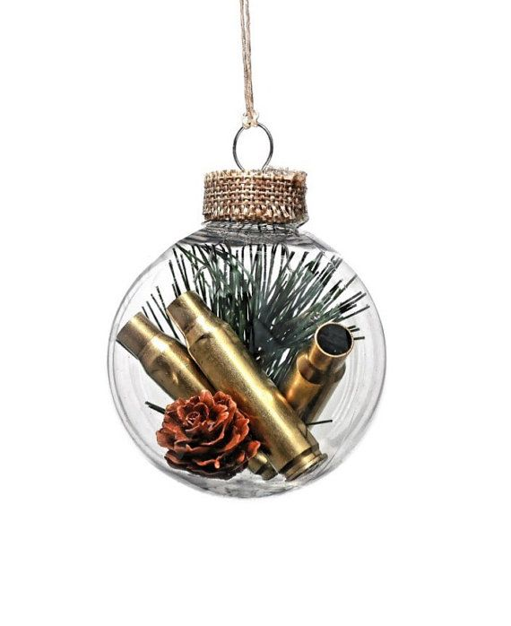 Christmas ornament, hunting gift, gun gifts, bullet casings, hunting gift, rustic decor, bullet shell ornament, christmas gifts for him