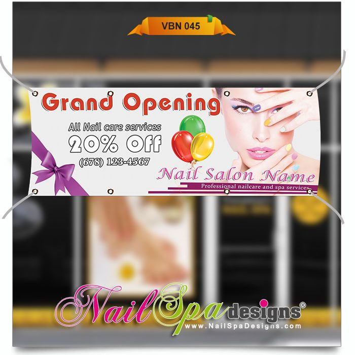 Best Nail Spa Vinyl Banner Design Images On Pinterest Banner - Vinyl banners design