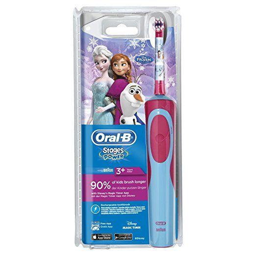 Oral-B Stages Power Kids Elektrische Zahnbürste mit Disneys (Die Eiskönigin - völlig unverforen, elektrische Kinderzahnbürste, mit Disney-Eisprinzesinnen, schützt vor Karies, powered by Braun)