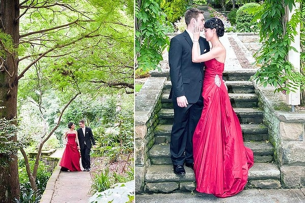 The way to wear a red wedding dress love it