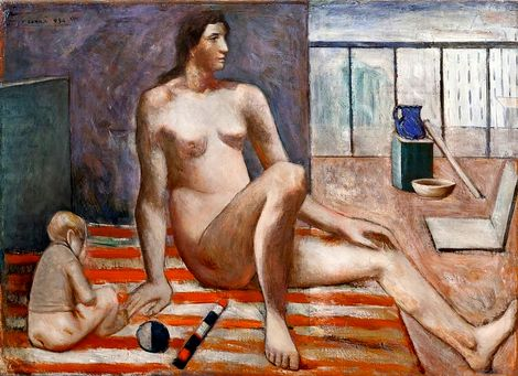 Carlo Carra, Mother and Son (1935) on ArtStack #carlo-carra-1 #art
