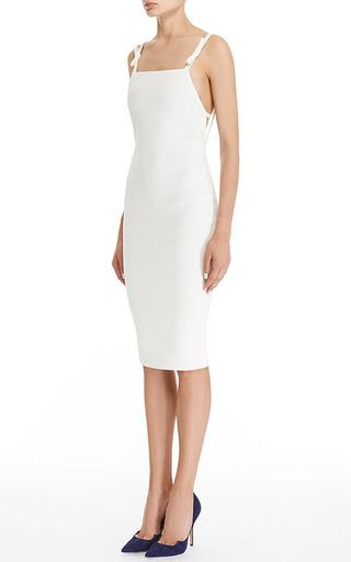 Tailor Bow Slip Sheath Dress by Katie Ermilio Now Available on Moda Operandi