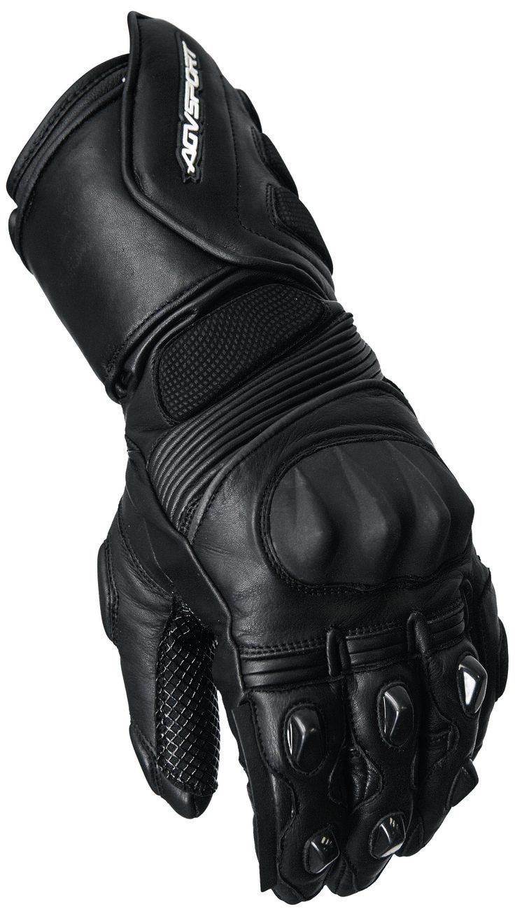 Motorcycle gloves kingston - Agvsport Sierra Black Glove Full Length All Weather Sport Glove Constructed