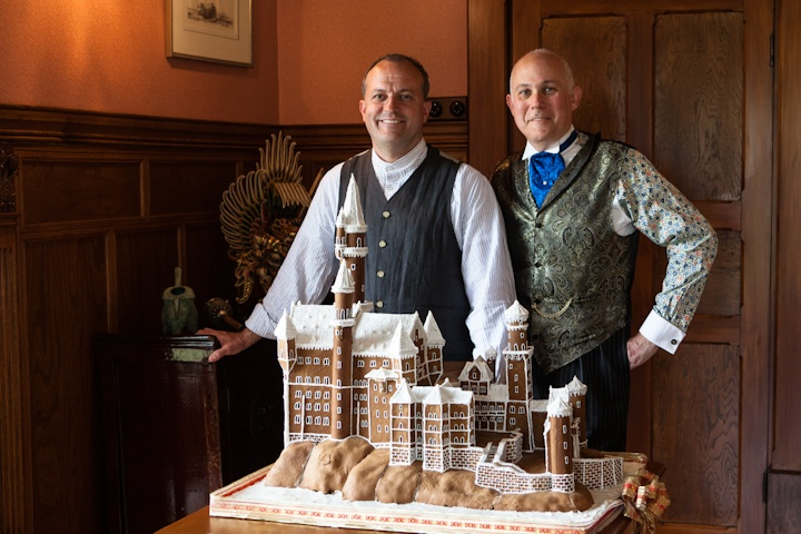 Pen-y-bryn's Gingerbread House for 2012--Neuschwanstein Castle.
