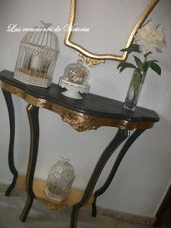 Las creaciones de Victoria: Nuevo recibidor y espejo restaurado !!!