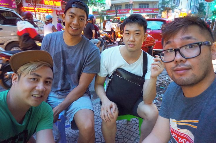 Sitting on tiny chairs somewhere in the streets of Saigon!  #saigon #tinychairs