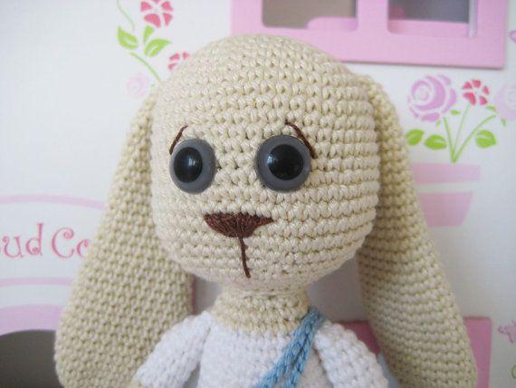 Rabbit Boy Amigurumi Toy PATTERN by mojeamigurumi on Etsy