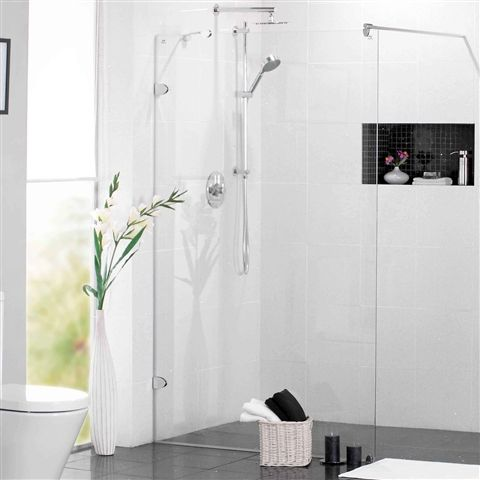 DIY Wet Room Shower | Mirabella Fully Frameless Wet Room Shower Screen - review, compare ...